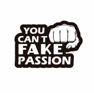 """Patch velcro PVC - PICSIL """"You can't fake passion"""" pour gilet lesté et sac à dos."""