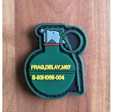 Patch PVC Silicone Grenade pour sac à dos gilet lesté airsoft crossfit
