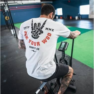 T-shirt Homme ROK Your WOD (Blanc) - Rokfit crossfit - boutique vetements snatched