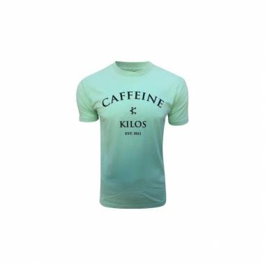 T-Shirt Homme Caffeine & Kilos logo Menthe boutique vetements crossfit snatched