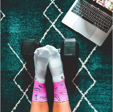 Chaussettes multicolores ICED DOUGHNUT - HEXXE SOCKS. Boutique snatched accessoires crossfit sport
