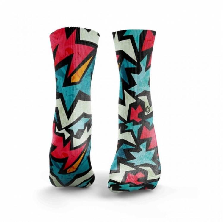 Chaussettes multicolores ICED FIZZER - HEXXE SOCKS. Boutique snatched accessoires crossfit sport