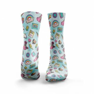 Chaussettes multicolores ICED 90'S BABY - HEXXE SOCKS. Boutique snatched accessoires crossfit sport