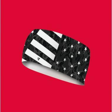 Bandeau élastique noir Stars and Stripes- Lithe apparel crossfit headband