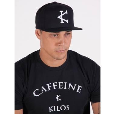 Casquette Caffeine & Kilos noire - snapback noir - Snatched
