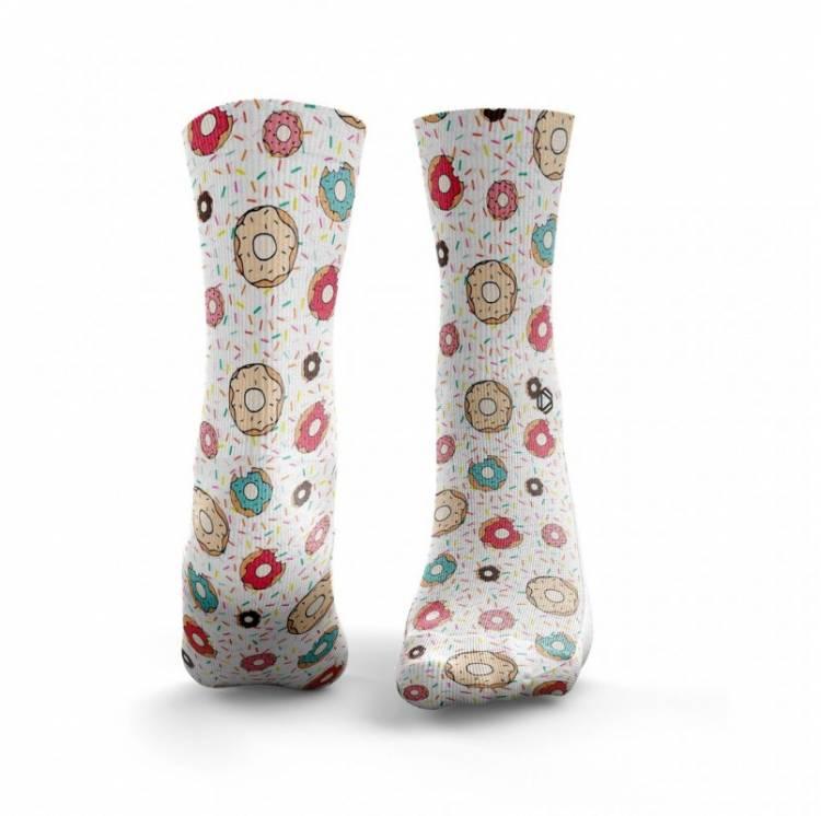 Chaussettes multicolores DONUT - HEXXE SOCKS. Training socks. Chaussettes sport femme. Boutique snatched Crossfit