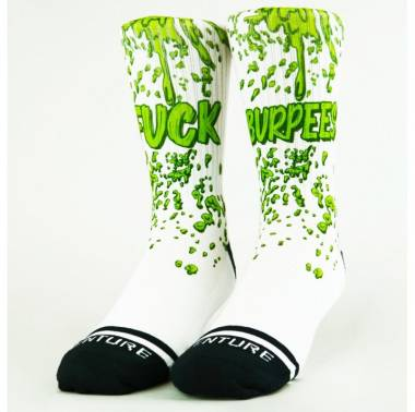 Chaussettes Fuck burpees - Wodable. Crossfit socks. Boutique snatched accessoires workout training fitness sport