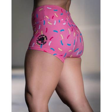 Short FEED ME FIGHT ME - femme - DONUTS - Rose. booty short crossfit  1