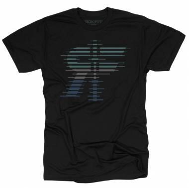 T-shirt noir THE STRATA - Rokfit