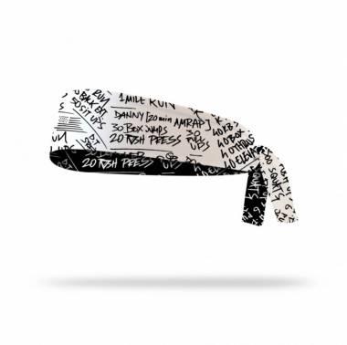 Bandeau réversible à nouer HERO WODS - Lithe apparel. Boutique snatched headband crossfit sport fitness accessoires blanc
