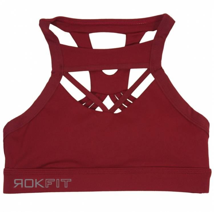Brassière The Lacey Rose merlot - Rokfit. Boutique Snatched vêtements femmes crossfit sport fitness