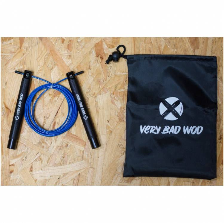 Corde à sauter bleu Speed - Very Bad Wod speed rope crossfit boutique snatched accessoires equipement