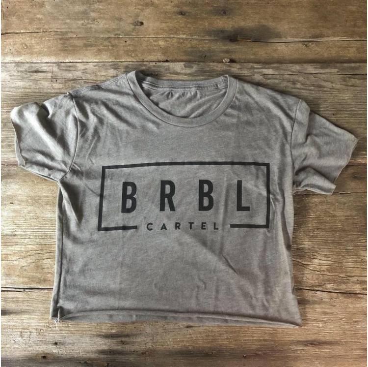 Crop top crossfit - the barbell cartel. BRBL Crop Tee Ash