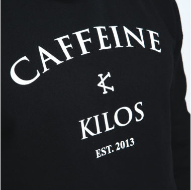 Hoodie caffeine & kilos unisexe crossfit