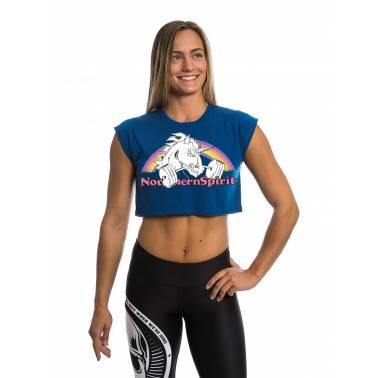 Crop top Northern Spirit - Unicorn (beauty)  t-shirt femme crossfit