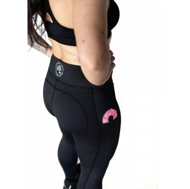 "Legging noir ""Is it a DONUT in your pocket"" - Feed Me Fight Me sport crossfit"