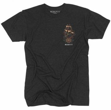 T-shirt homme crossfit You Will Prevail (Charcoal Black)-homme-rokfit