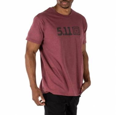 T-shirt homme crossfit Legacy Tonal Tee Bordeaux - 5.11 tactical - boutique vetements snatched