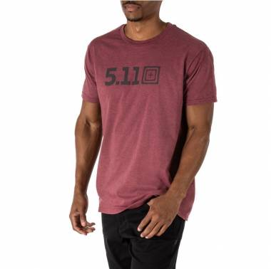 T-shirt homme crossfit Legacy Tonal Tee Bordeaux - 5.11 tactical - boutique vetements snatched