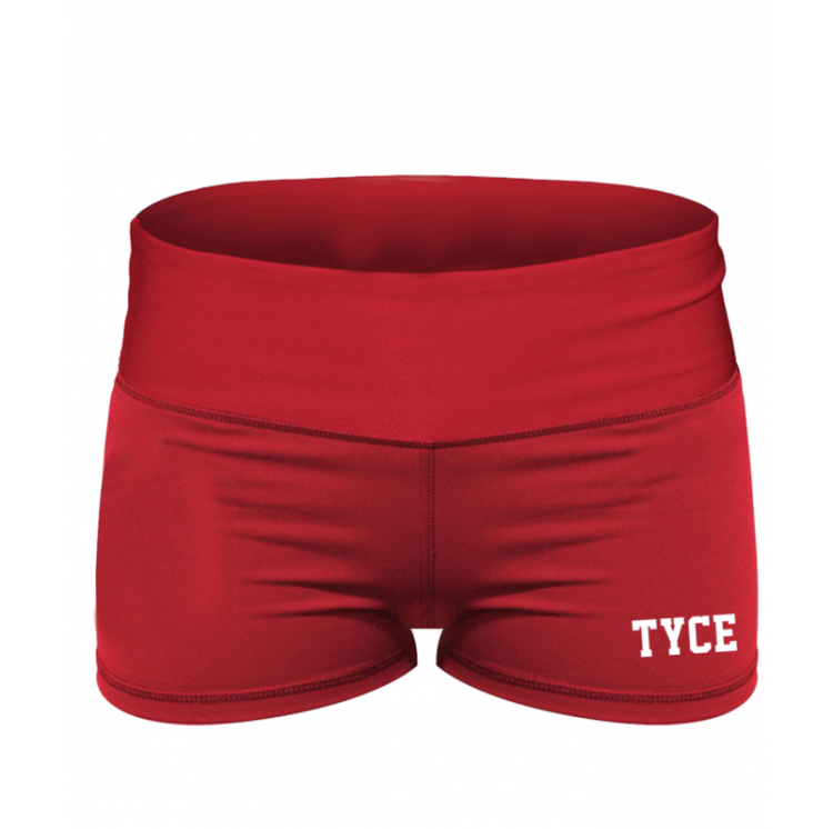 Booty Shorty Artemis rouge - Tyce Brothers - boutique vetements crossfit femme