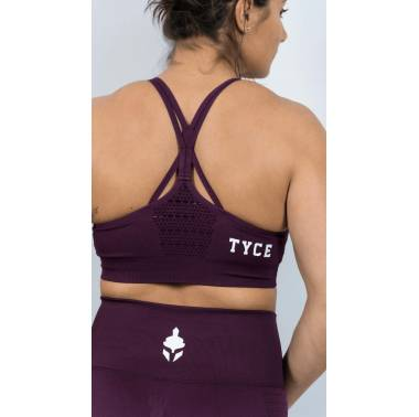 Brassière sport Athena prune - Tyce Brothers - boutique snatched vetements crossfit femmes